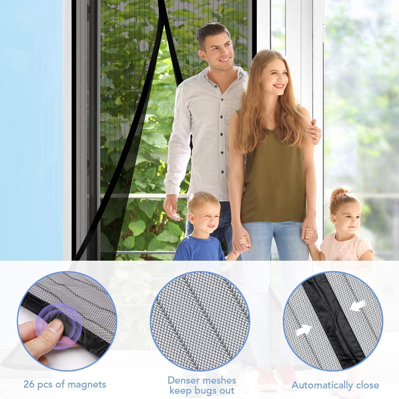 Mosquito Magnetic Screen Door Net Curtain