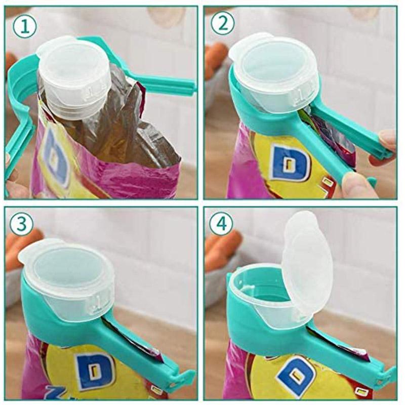 KitchenQ™ Seal and Pour Food Bag Clip (4 Pcs.)