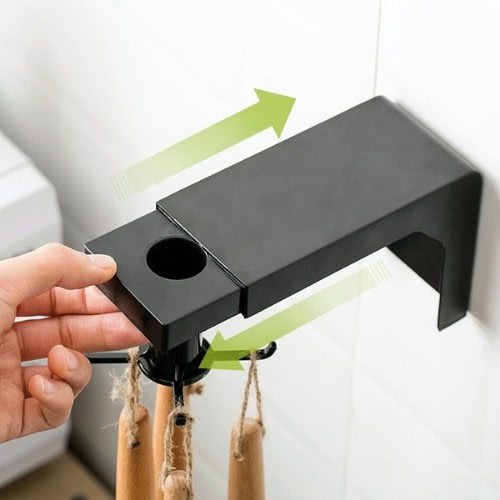 360 Rotating Wall Mounted 6 Hooks Collecting Hanger