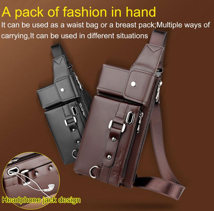 Genuine Leather Travel Fanny Waist Pack Lightweight