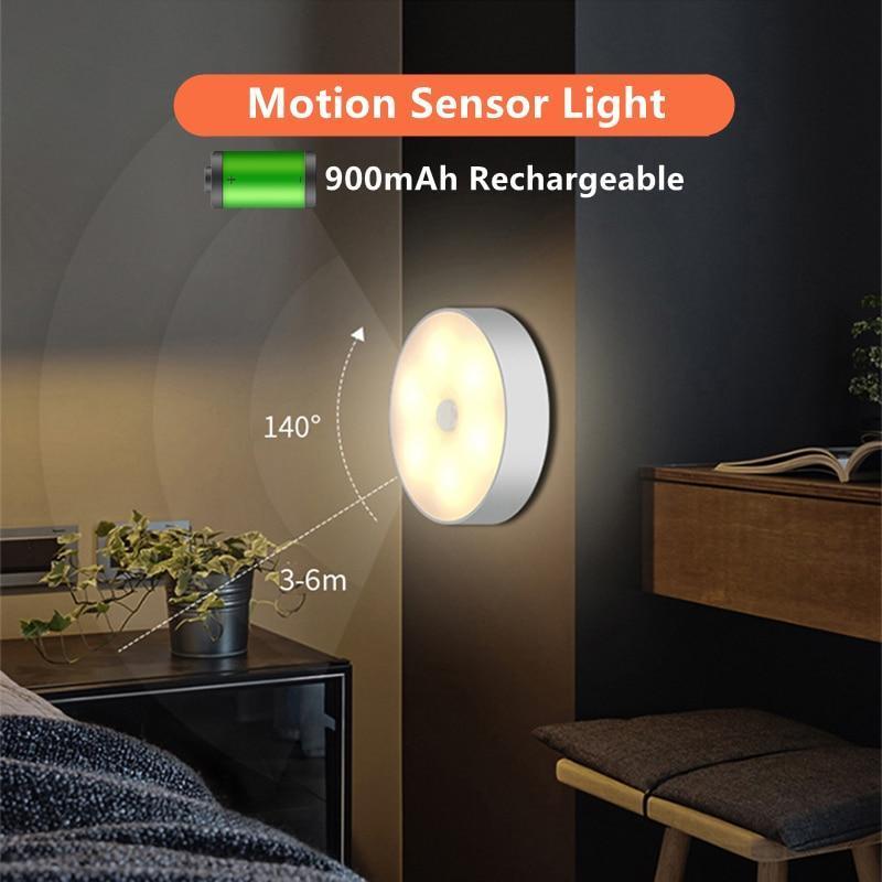 Ninja MoSen Light™ Rechargeable Motion Sensor Night Light Round (Pack of 2)