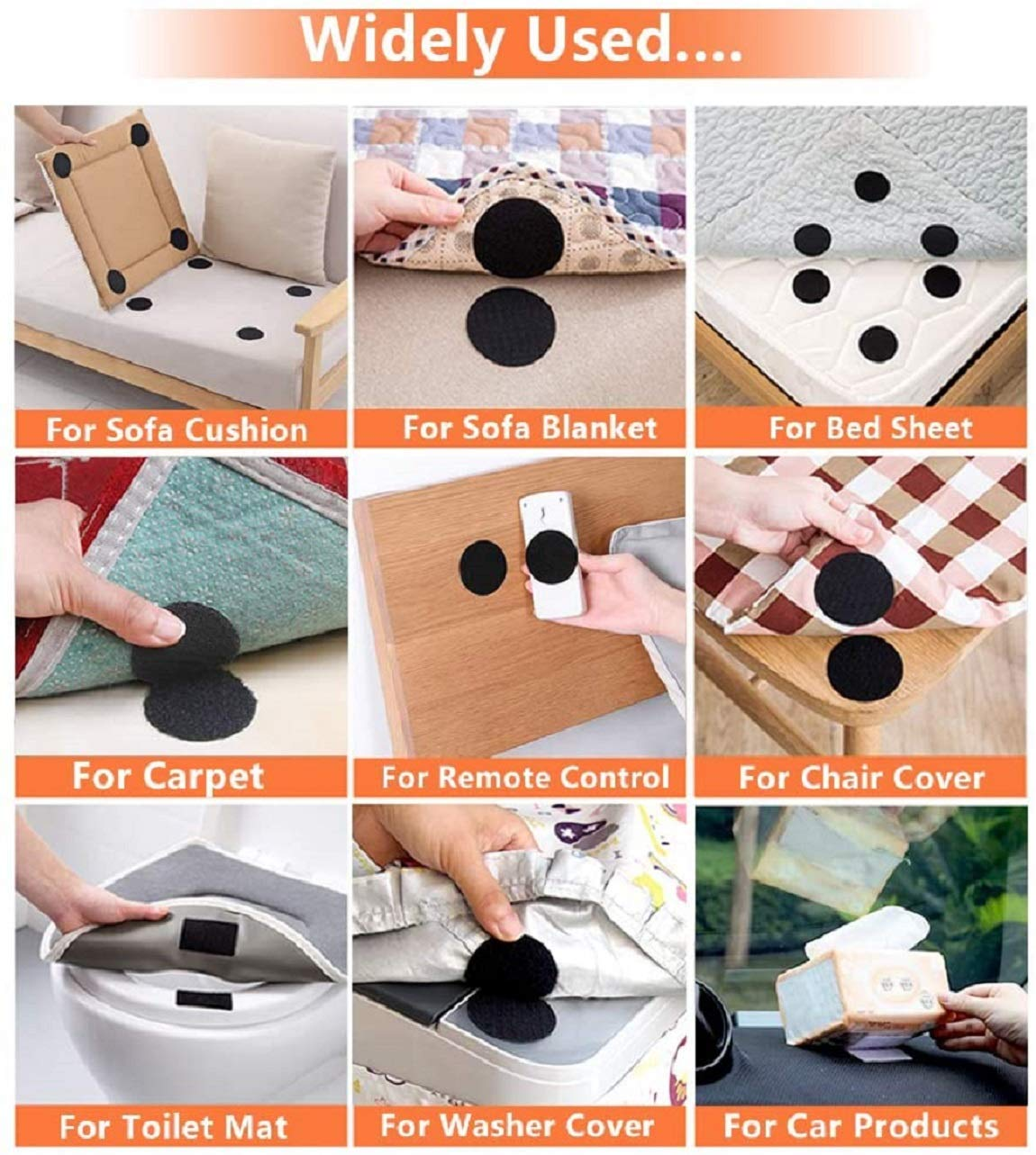HomeG™ Multi Purpose Hold-in-Place Double Sided Sticky For Floor Mat, Car Mat, Sofa Seats, Sofa Co