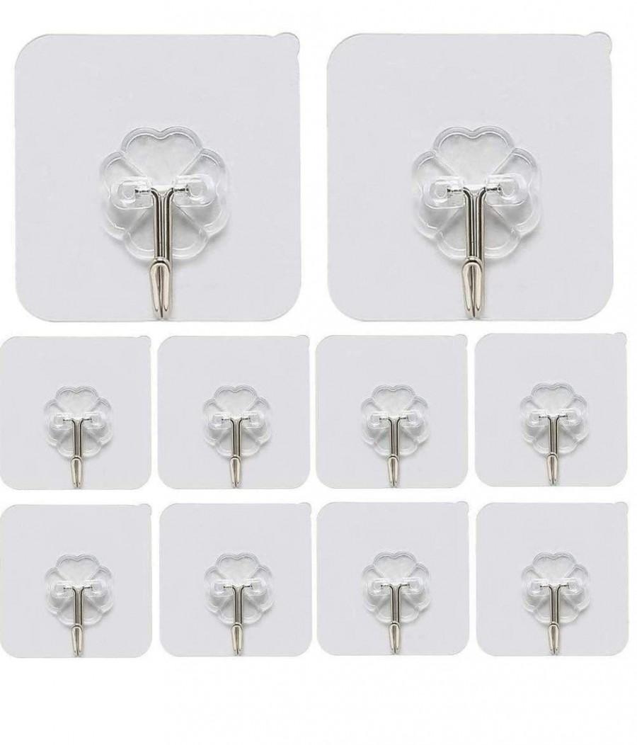 Adhesive Stickers ABS Plastic + Steel Hook Hanger