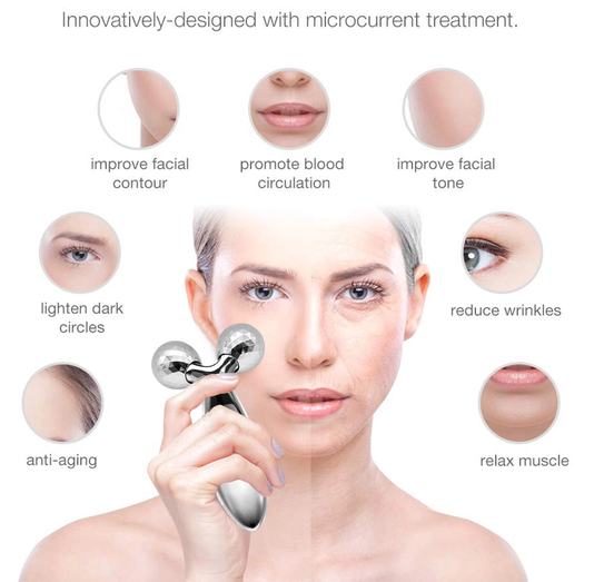 YIBERS™UPLIFT MASSAGE ROLLER FOR FACE & BODY - REMOVING DOUBLE CHIN, SKIN LIFTING, FACE SLIMMING